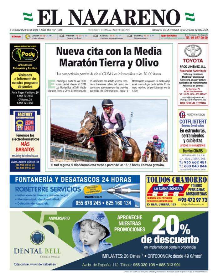 Periódico El Nazareno nº 1046 de 3 de noviembre de 2016