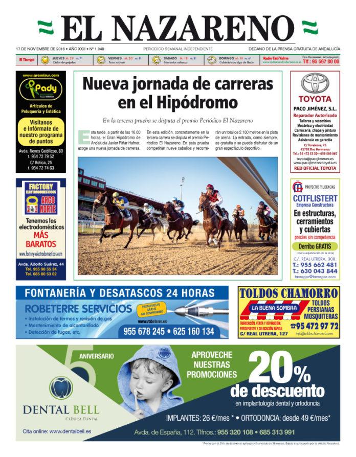 Periódico El Nazareno nº 1048 de 17 de noviembre de 2016