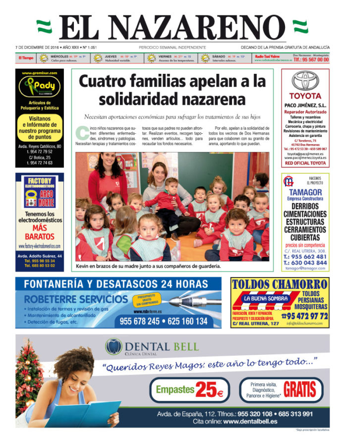Periódico El Nazareno nº 1051 de 7 de diciembre de 2016