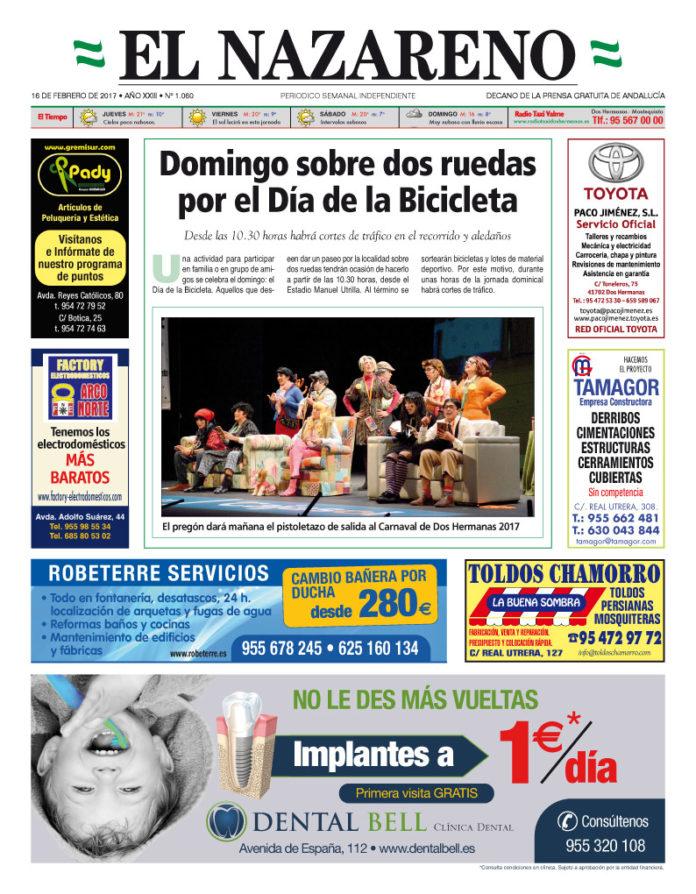 Periódico El Nazareno nº 1060 de 16 de febrero de 2017