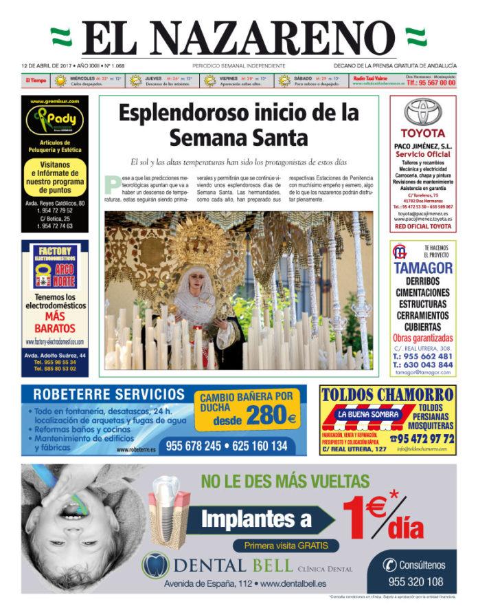 Periódico El Nazareno nº 1068 de 12 de abril de 2017