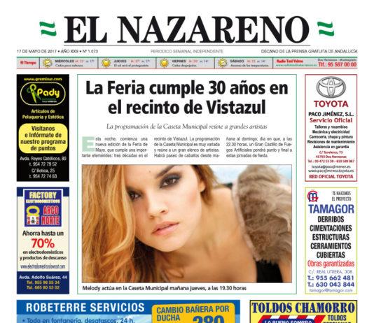 Periódico El Nazareno nº 1073 de 17 de mayo de 2017