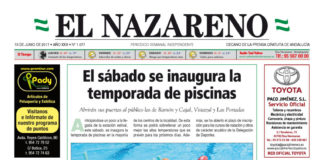 Periódico El Nazareno nº 1077 de 15 de junio de 2017