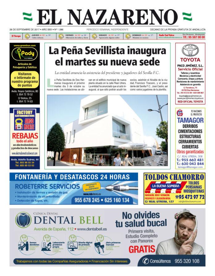 Periódico El Nazareno nº 1086 de 28 de septiembre de 2017