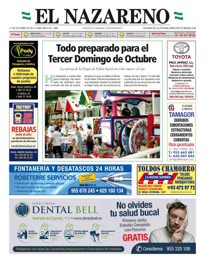 Periódico El Nazareno nº 1088 de 11 de octubre de 2017