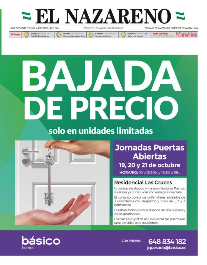 Periódico El Nazareno nº 1089 de 19 de octubre de 2017