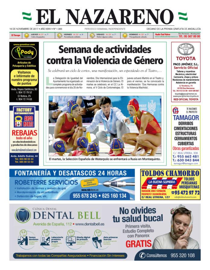 Periódico El Nazareno nº 1093 de 16 de noviembre de 2017