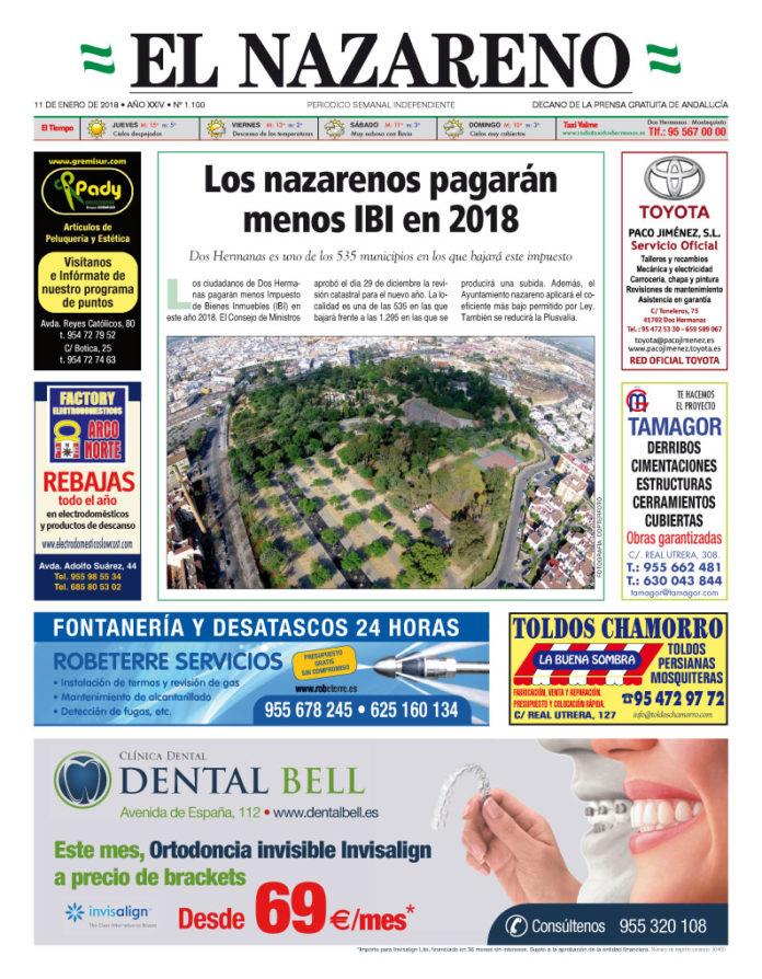 Periódico El Nazareno nº 1.100 de 11 de enero de 2018