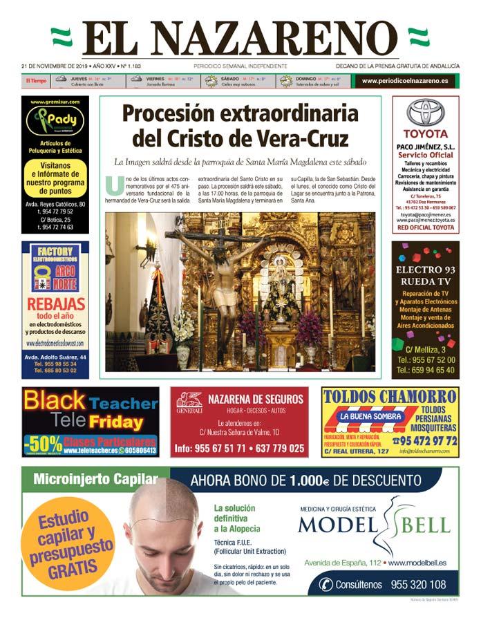 Periódico El Nazareno nº 1183 de 21 de noviembre de 2019