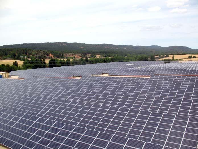 parque de energía solar
