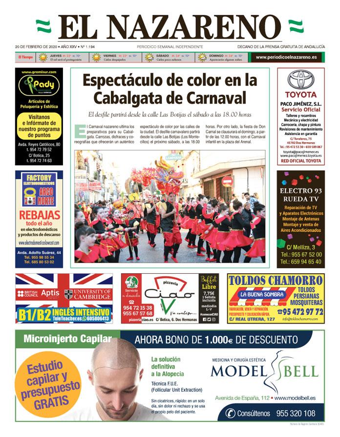 Periódico El Nazareno nº 1.194 de 20 de febrero de 2020