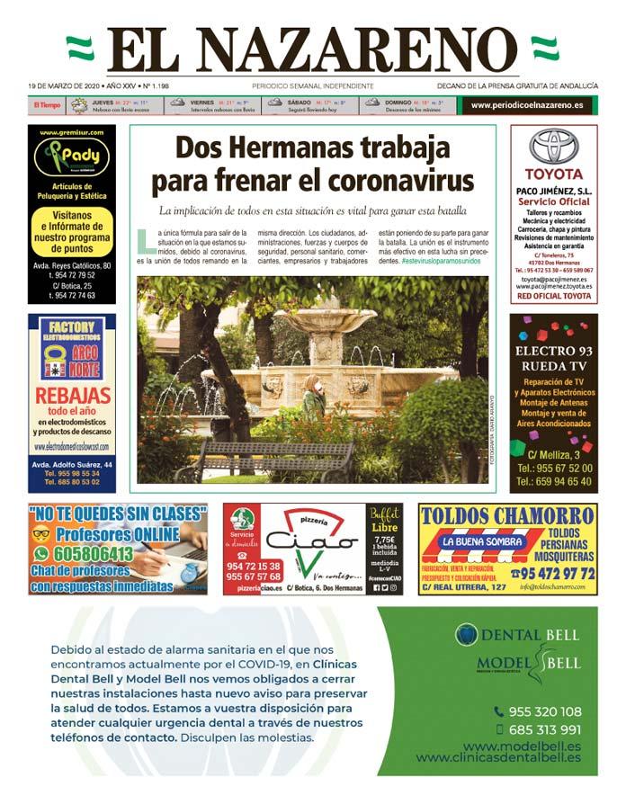 Periódico El Nazareno nº 1.198 de 19 de marzo de 2020