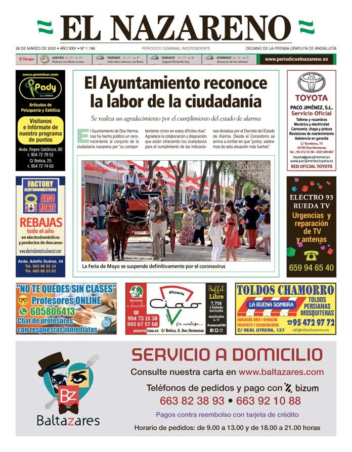 Periódico El Nazareno nº 1.199 de 26 de marzo de 2020