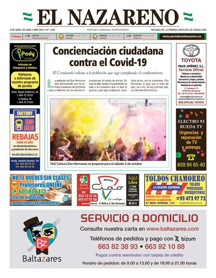 Periódico El Nazareno nº 1.200 de 2 de abril de 2020