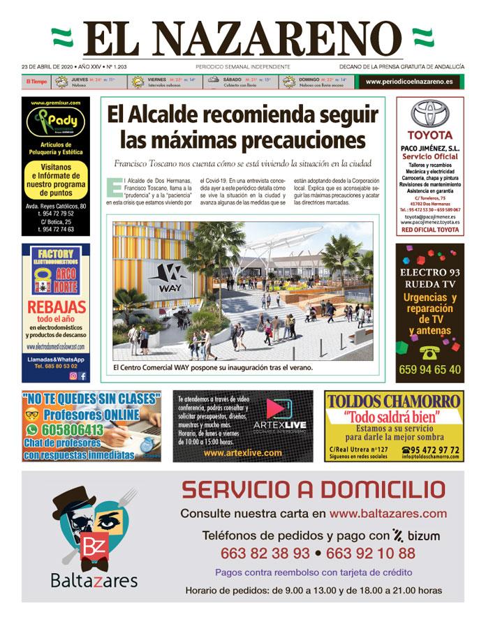 Periódico El Nazareno nº 1.203 de 23 de abril de 2020
