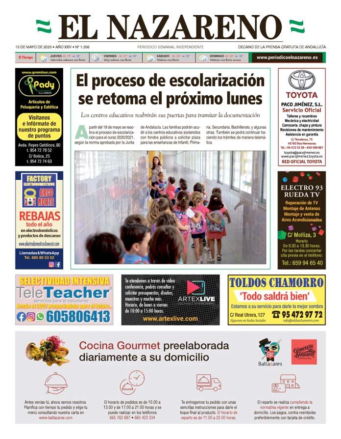 Periódico El Nazareno nº 1.206 de 13 de mayo de 2020