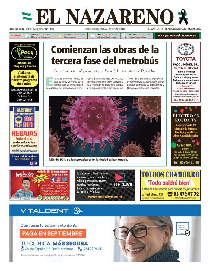 Periódico El Nazareno nº 1.209 de 4 de junio de 2020