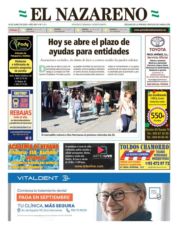 Periódico El Nazareno nº 1.211 de 18 de junio de 2020