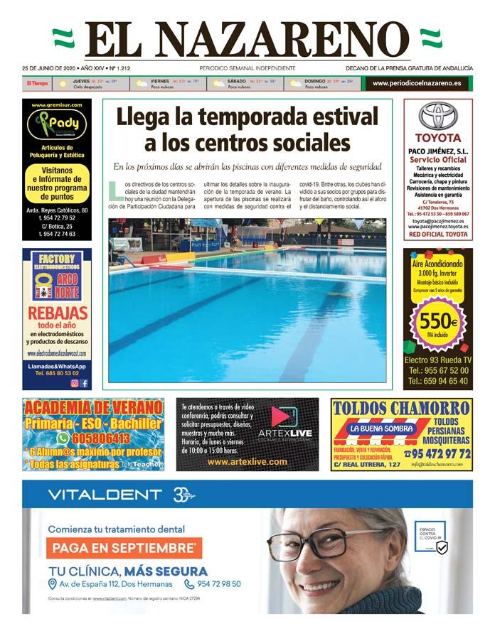 Periódico El Nazareno nº 1.212 de 25 de junio de 2020