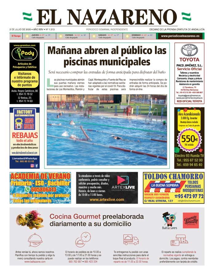 Periódico El Nazareno nº 1.213 de 2 de julio de 2020