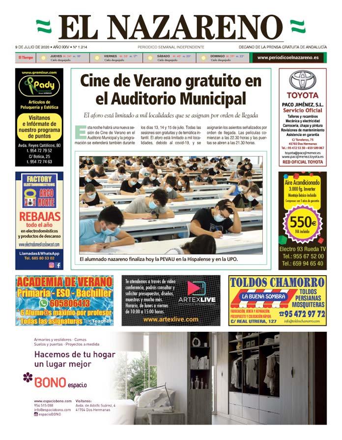 Periódico El Nazareno nº 1.214 de 9 de julio de 2020