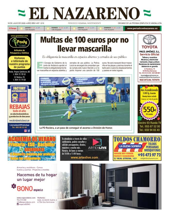 Periódico El Nazareno nº 1.215 de 16 de julio de 2020