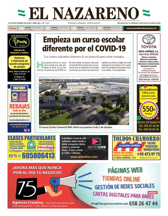 Periódico El Nazareno nº 1.217 de 10 de septiembre de 2020
