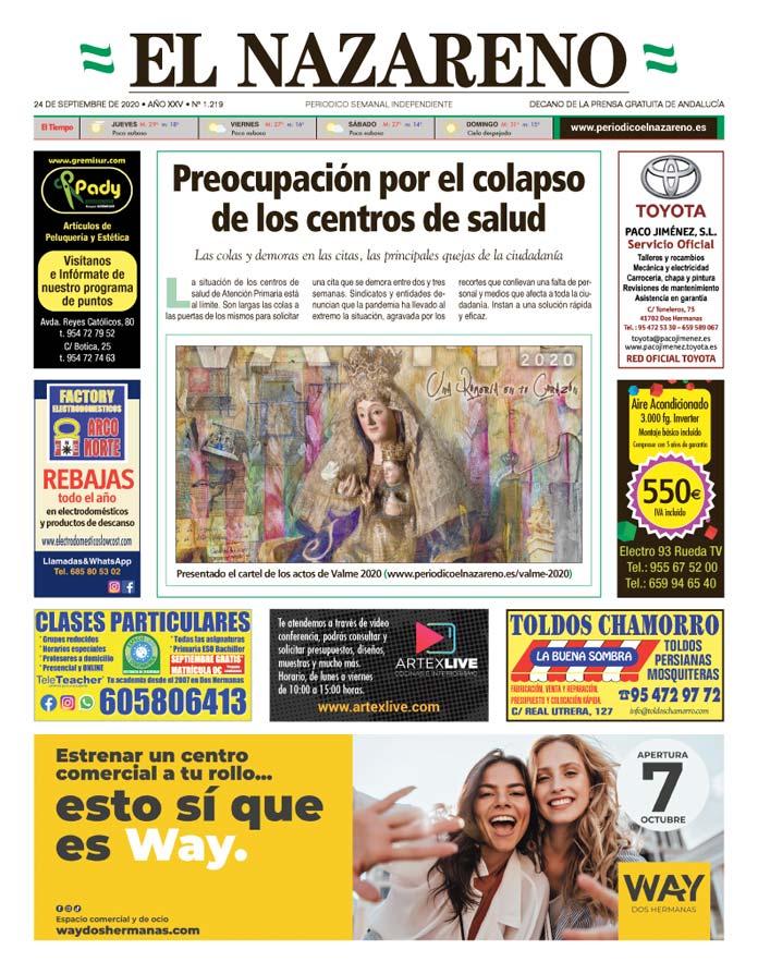 Periódico El Nazareno nº 1.219 de 24 de septiembre de 2020