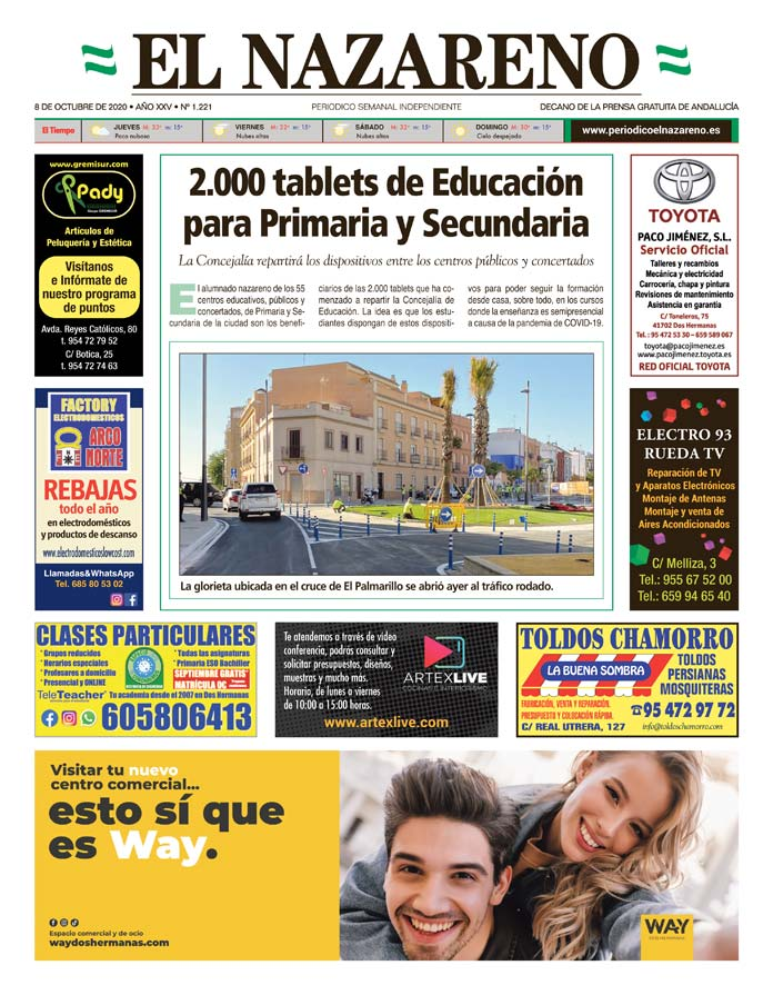 Periódico El Nazareno nº 1.221 de 8 de octubre de 2020