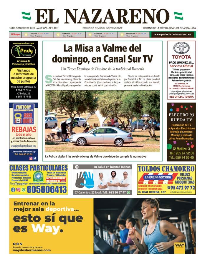 Periódico El Nazareno nº 1.222 de 15 de octubre de 2020
