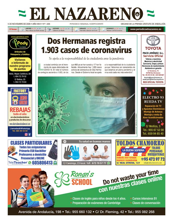 Periódico El Nazareno nº 1.225 de 5 de noviembre de 2020