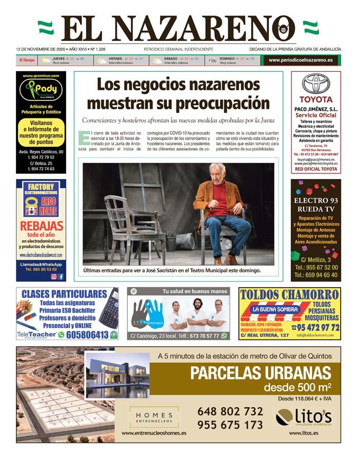 Periódico El Nazareno nº 1.226 de 12 de noviembre de 2020