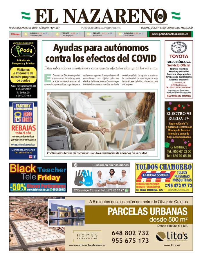 Periódico El Nazareno nº 1.227 de 19 de noviembre de 2020