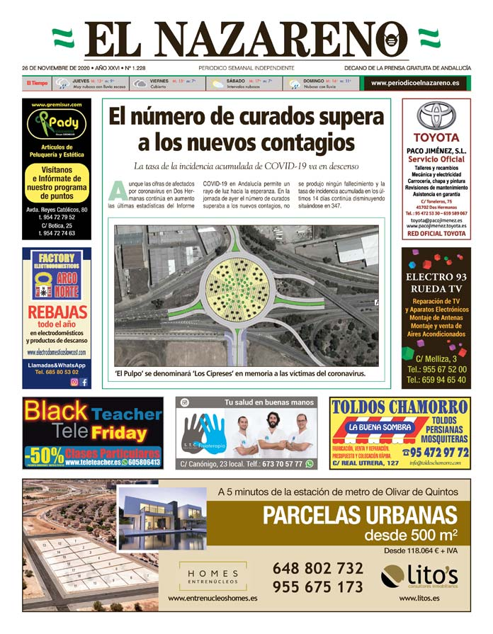 Periódico El Nazareno nº 1.228 de 26 de noviembre de 2020