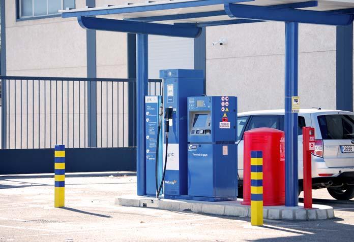 estación de recarga de gas