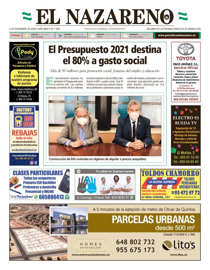 Periódico El Nazareno nº 1.229 de 3 de diciembre de 2020