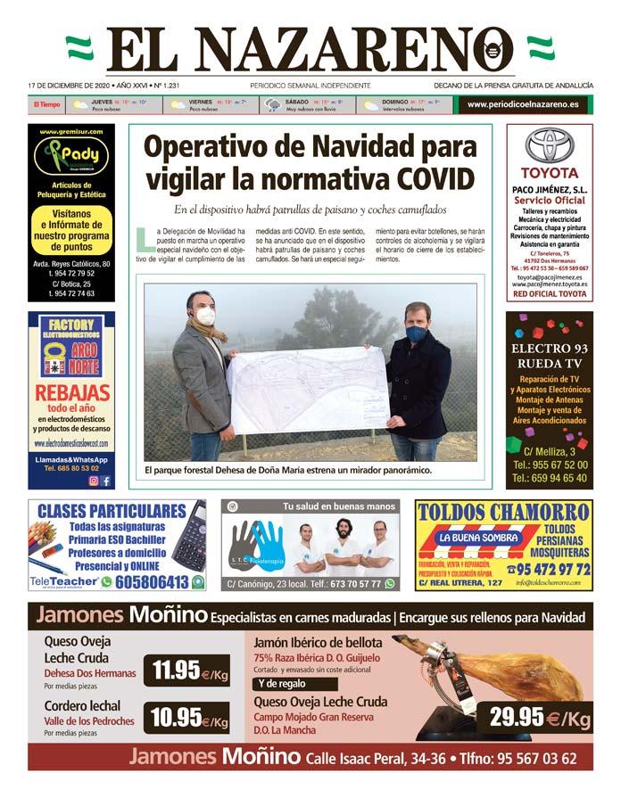 Periódico El Nazareno nº 1.231 de 17 de diciembre de 2020
