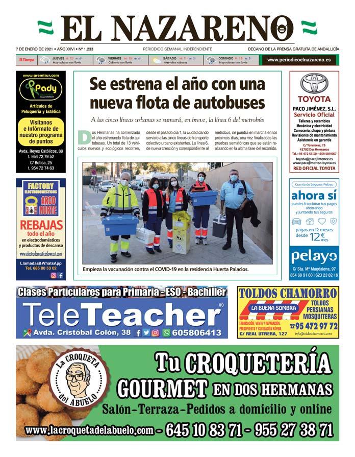 Periódico El Nazareno nº 1.233 de 7 de enero de 2021