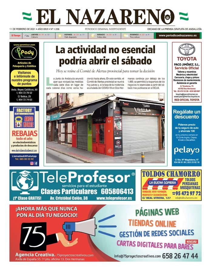 Periódico El Nazareno nº 1.238 de 11 de febrero de 2021