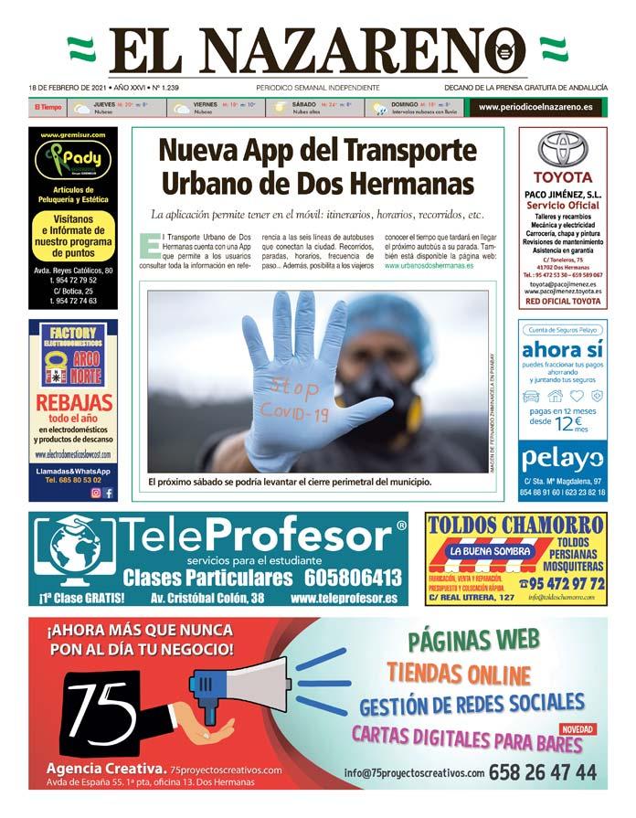 Periódico El Nazareno nº 1.239 de 18 de febrero de 2021