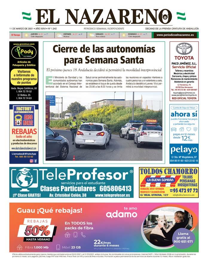 Periódico El Nazareno nº 1.242 de 11 de marzo de 2021