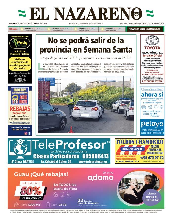 Periódico El Nazareno nº 1.243 de 18 de marzo de 2021