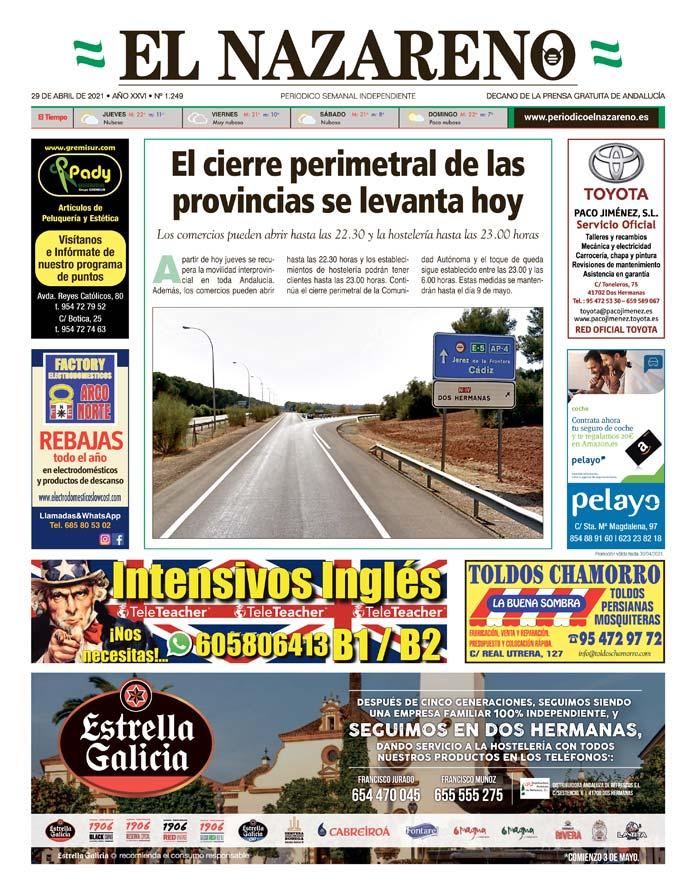Periódico El Nazareno nº 1.249 de 29 de abril de 2021