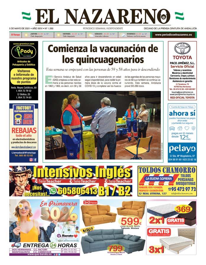 Periódico El Nazareno nº 1.250 de 5 de mayo de 2021