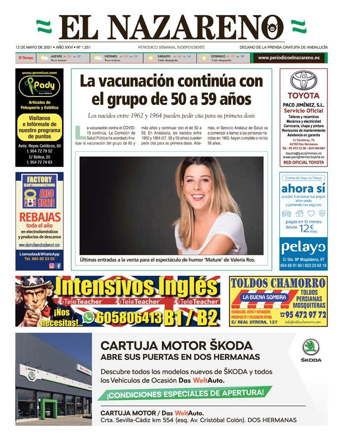 Periódico El Nazareno nº 1.251 de 13 de mayo de 2021