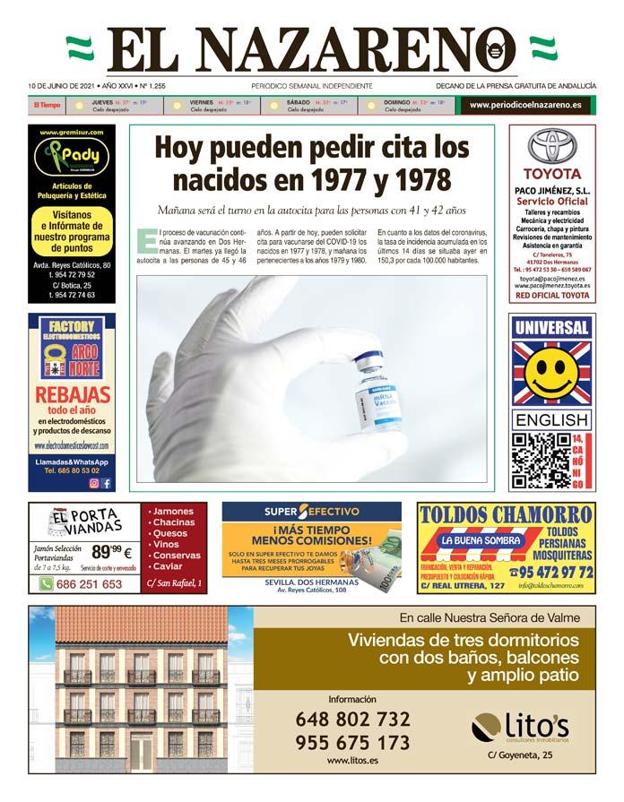 Periódico El Nazareno nº 1.255 de 10 de junio de 2021