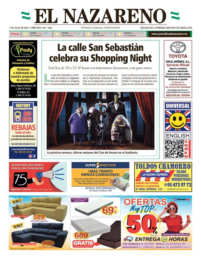 Periódico El Nazareno nº 1.258 de 1 de julio de 2021
