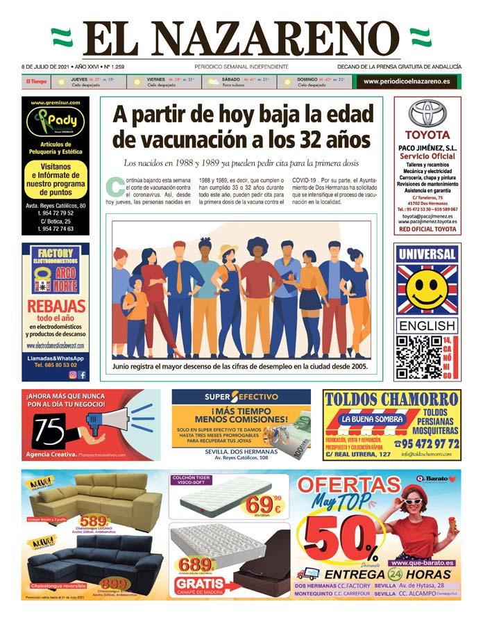 Periódico El Nazareno nº 1.259 de 8 de julio de 2021