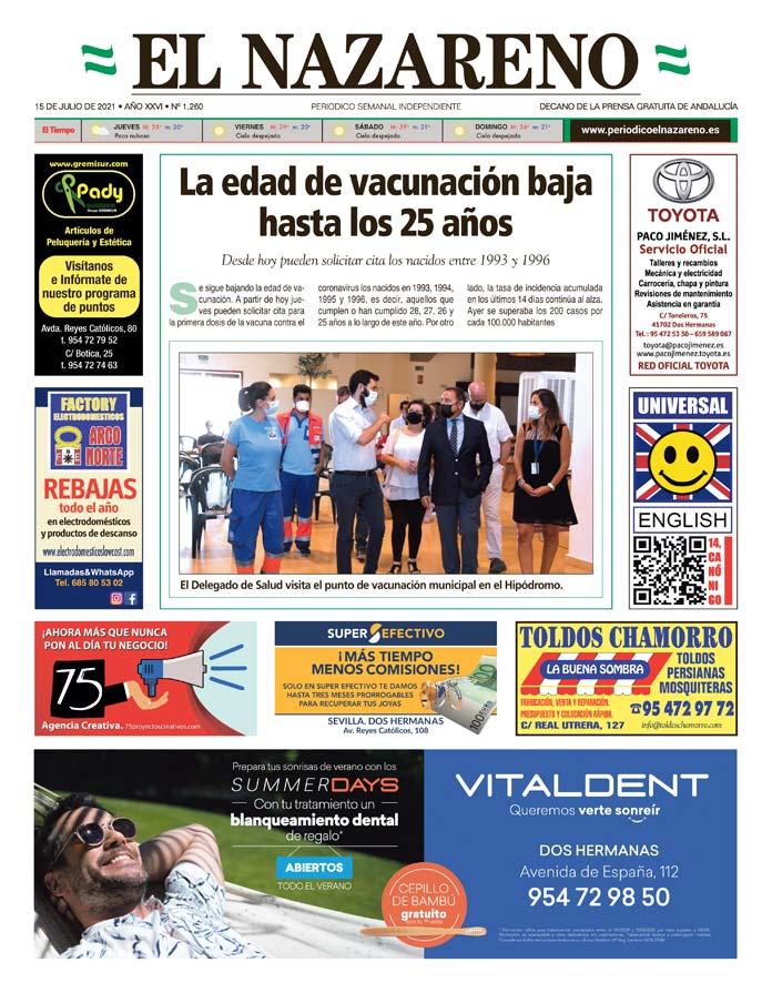 Periódico El Nazareno nº 1.260 de 15 de julio de 2021