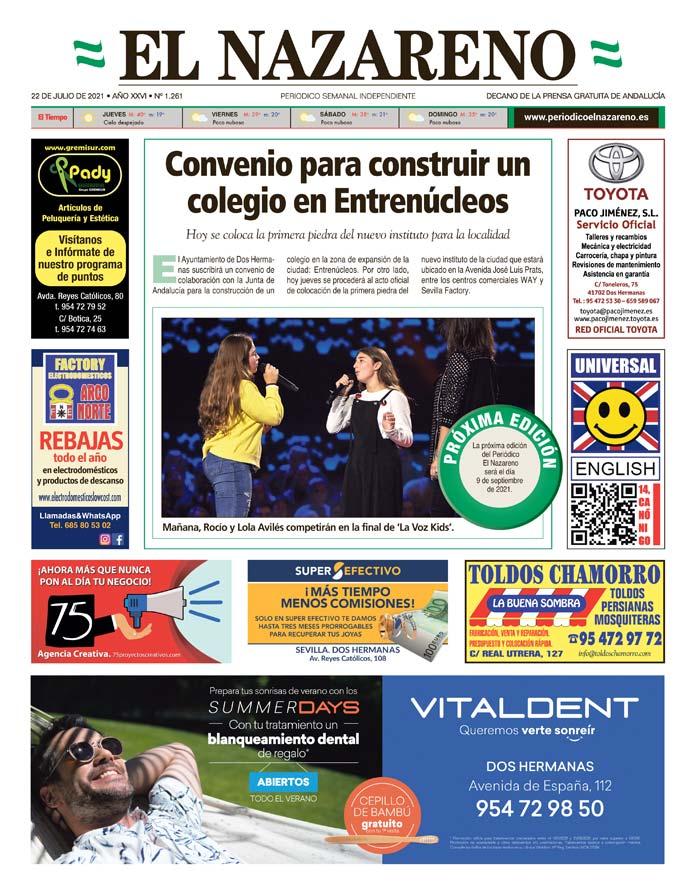Periódico El Nazareno nº 1.261 de 22 de julio de 2021